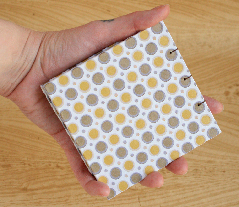 Palm-Sized Coptic Notebook (Flocked Dots Cover)