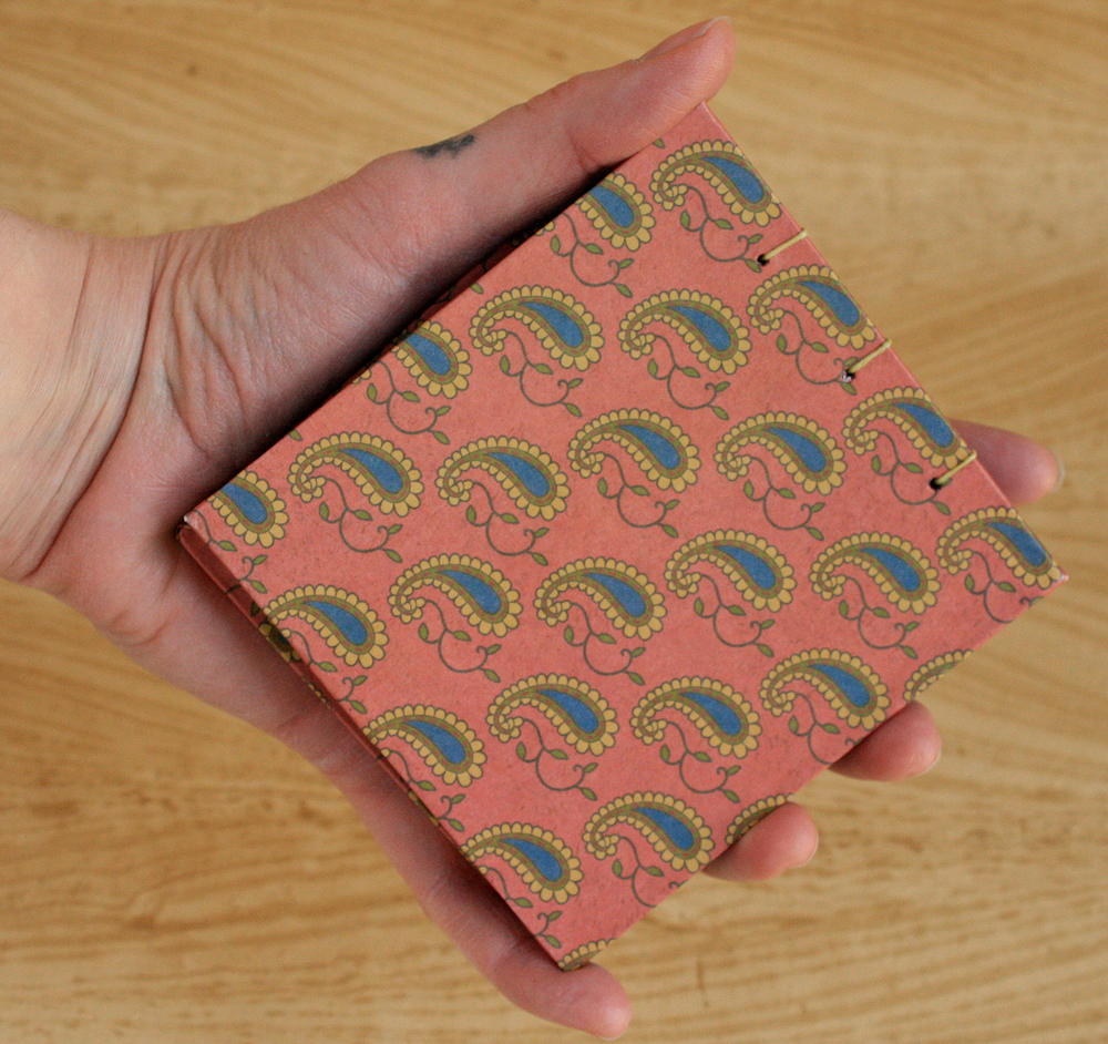 Palm-Sized Coptic Notebook (Paisley Cover)