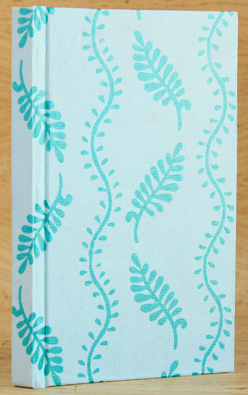 Cover View on Basic Case-Bound Codex Journal (Aqua Leaf Cover)