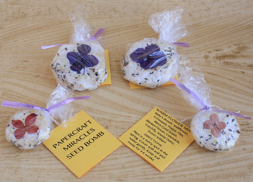 Seed Bombs Handmade Paper Wildflower Packs Papercraft Miracles