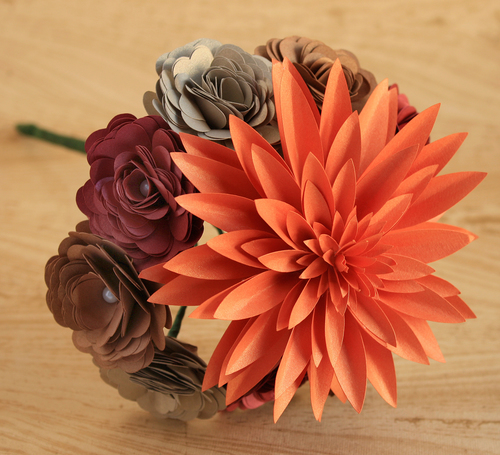 Paper flowers papercraft miracles paper flower bouquet small dahlia spiral roses mightylinksfo
