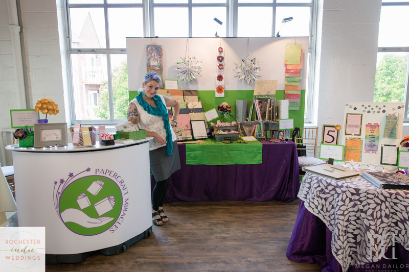 My booth at the FABULOUS Rochester Indie Weddings Bridal Show at The Arbor Loft! Photo by  Megan Dailor Photography .