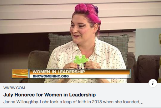 Interview on AM Buffalo on WKBW - Janna was interviewed live by Linda Pellegrino for being the July Honoree for Women In Leadership!