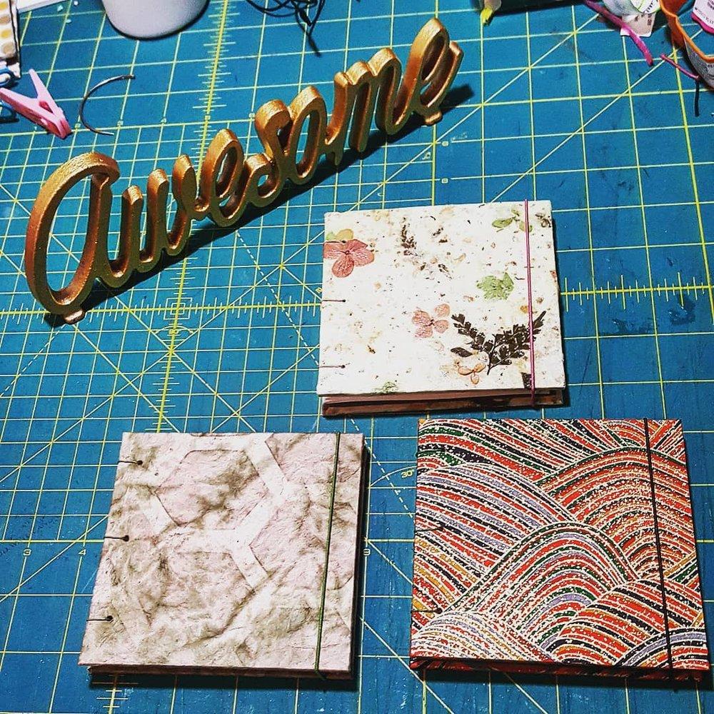 small handmade journals