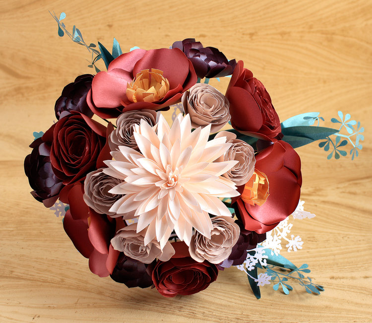 Paper Flowers Workshop At Blue Sky Design Supply Saturday Feb 16th