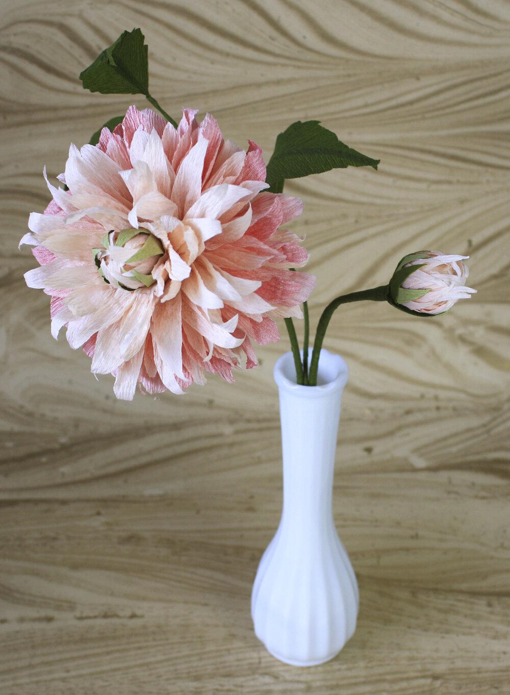 Dahlia Crepe Paper Flower Papercraft Miracles Llc