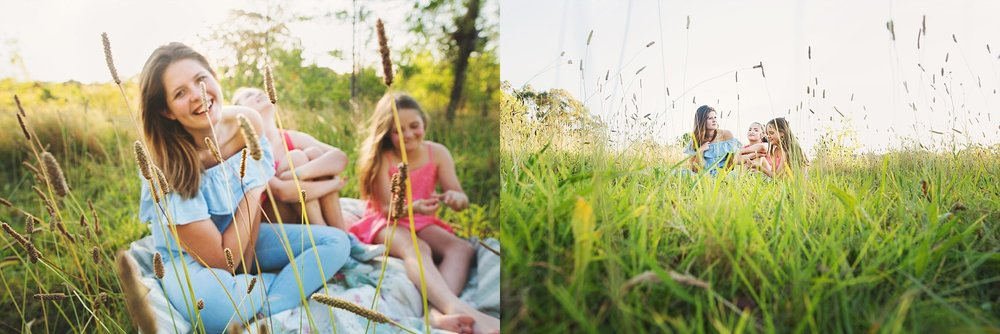 This field of overgrown grass was the perfect setting for a session with my girls. They had no idea why we stopped by the side of a busy road.