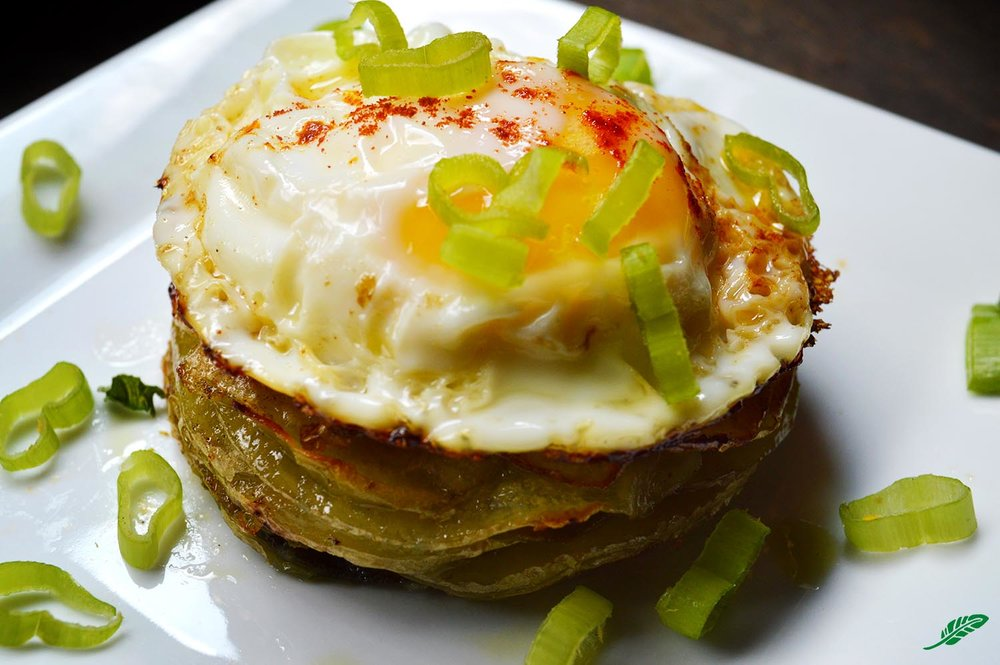 Layered Potato Cake with Fresh Sage