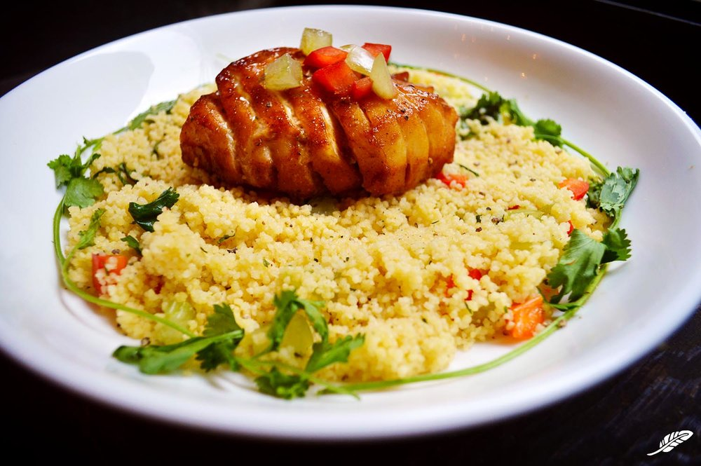 Glazed Cod over Couscous