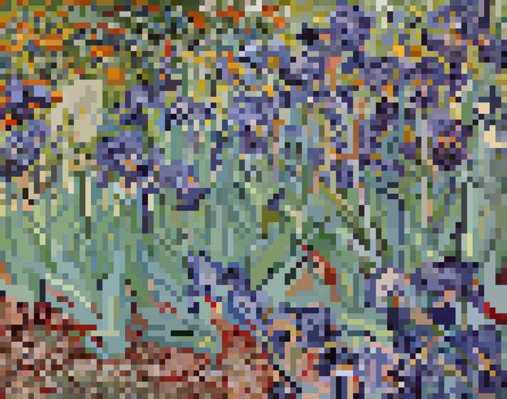 """Vincent van Gogh's """"Irises"""""""