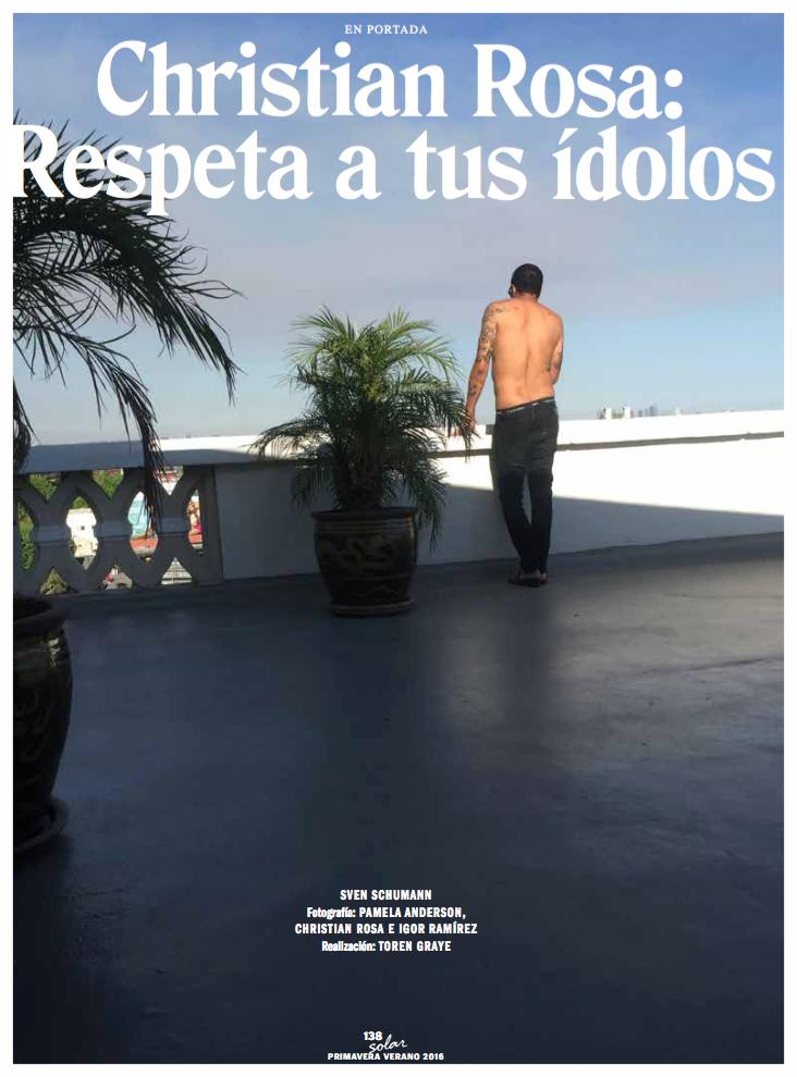 Solar Magazine/ Pamela Anderson x Christian Rosa/ Christian Rosa
