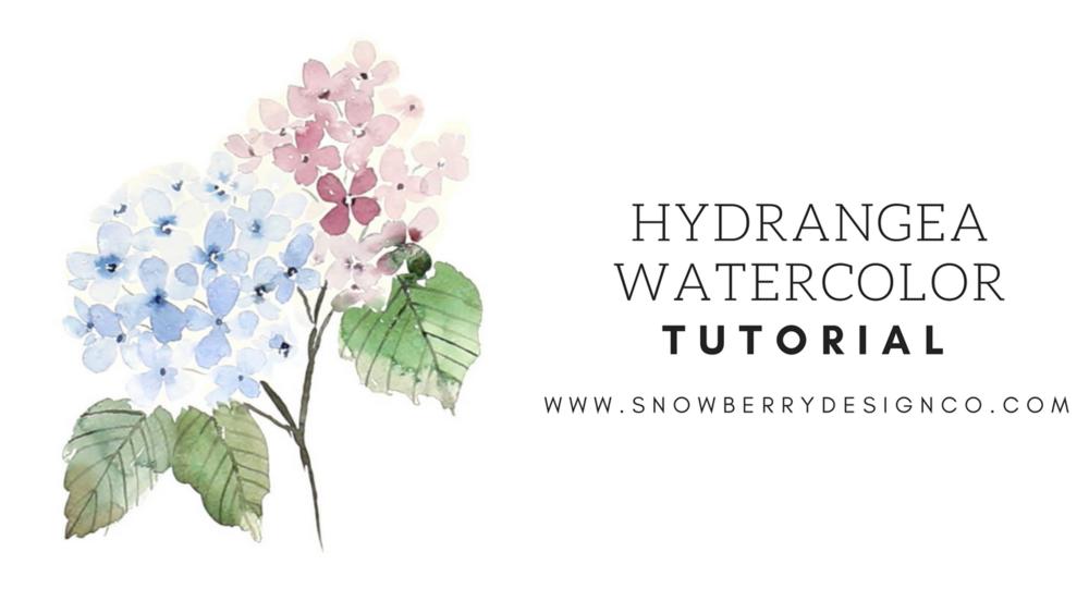 Hydrangea Watercolor Tutorial