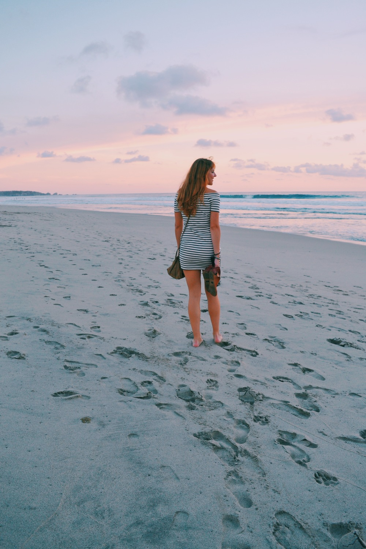 sunset in playa zicatela