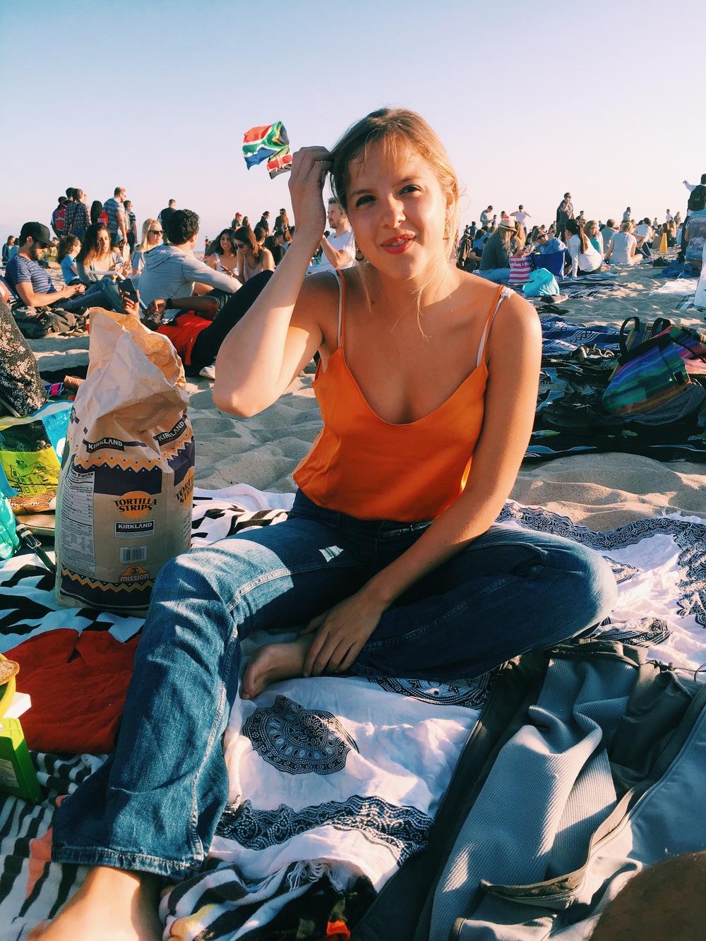 Beach concert by Santa Monica Pier