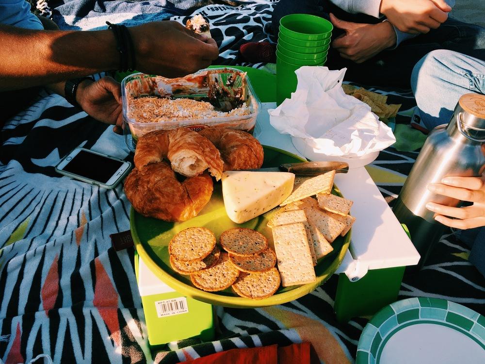 picnic in Santa Monica