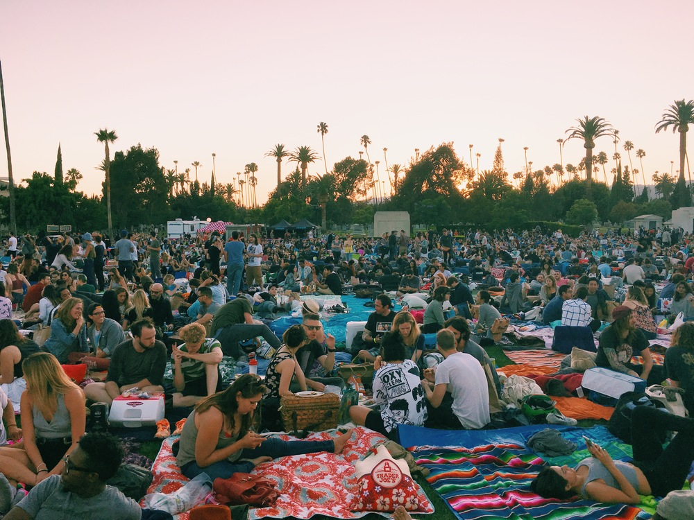 crowd at cinespia