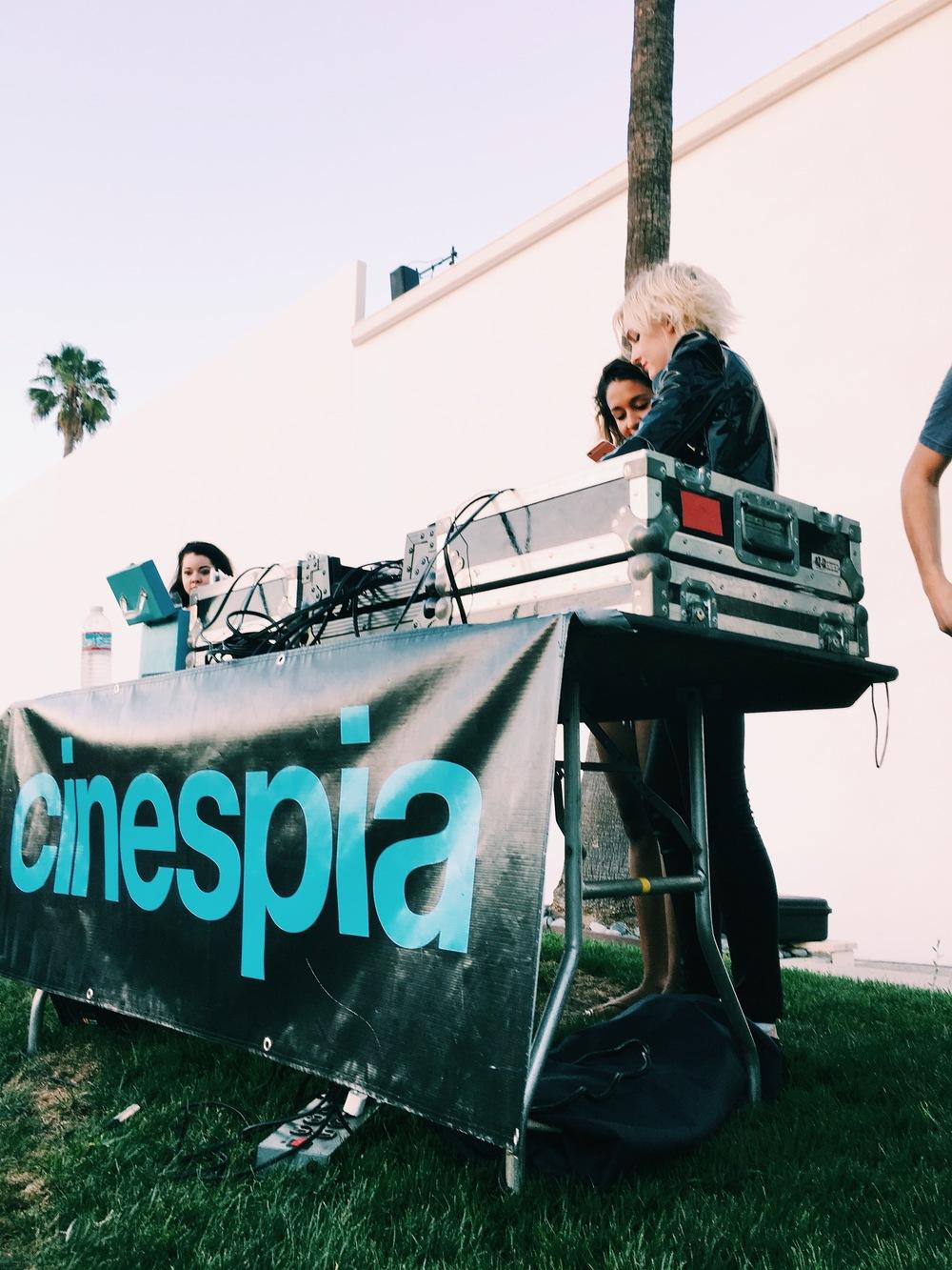 DJ set thanks to cinespia