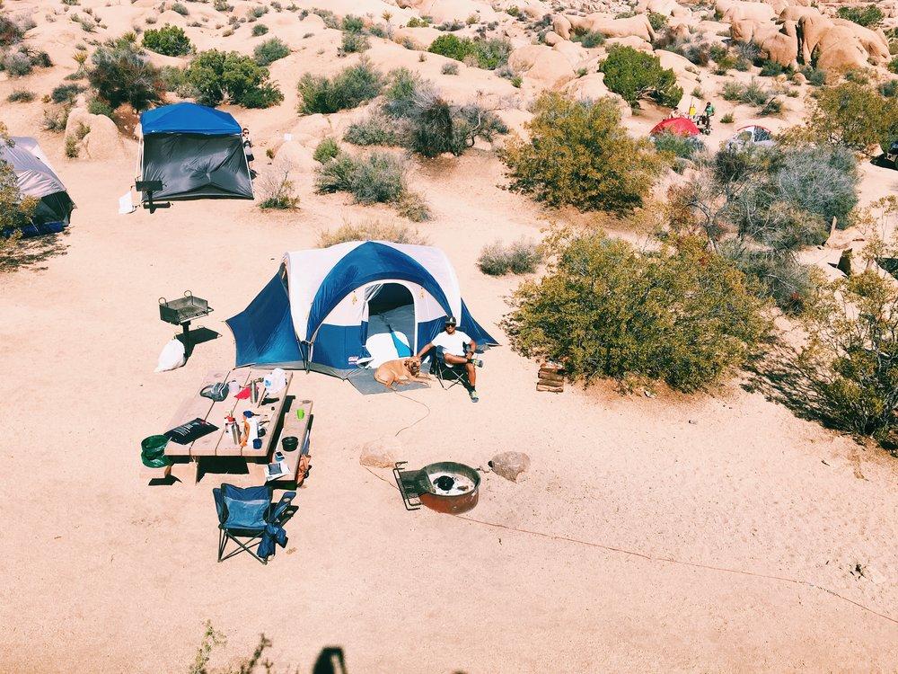 aerial-view-campsite