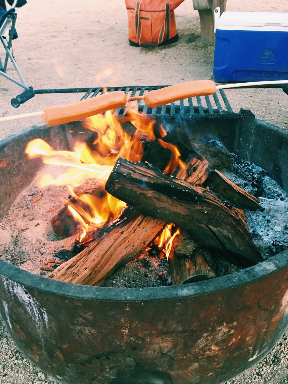 fire-cooked-hotdogs-camping
