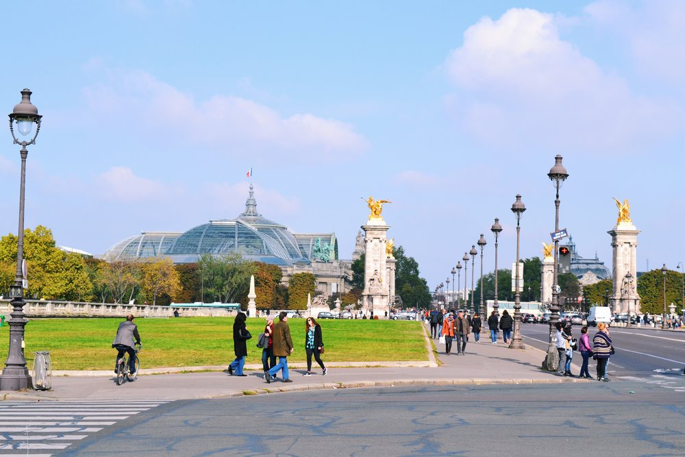 pont alexandre III and view of grand palais