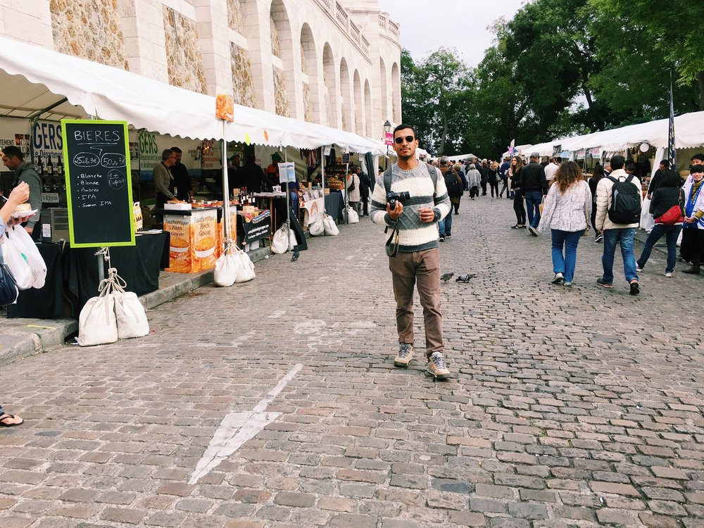 wine festival in montmartre