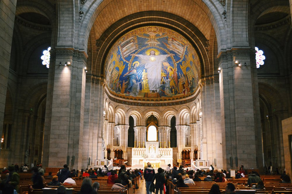 inside of sacre coeur