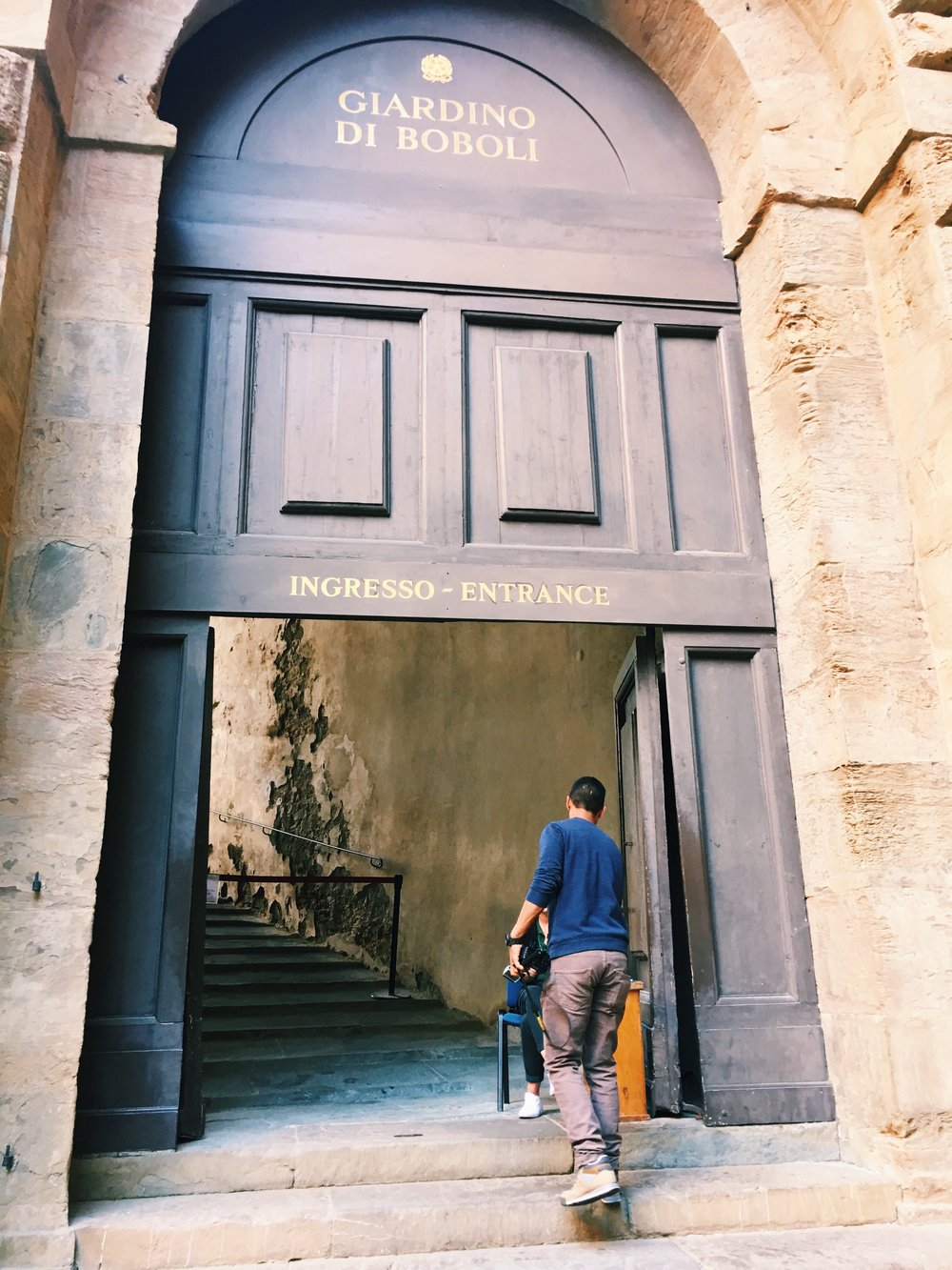 entrance to Boboli Gardens, Florence