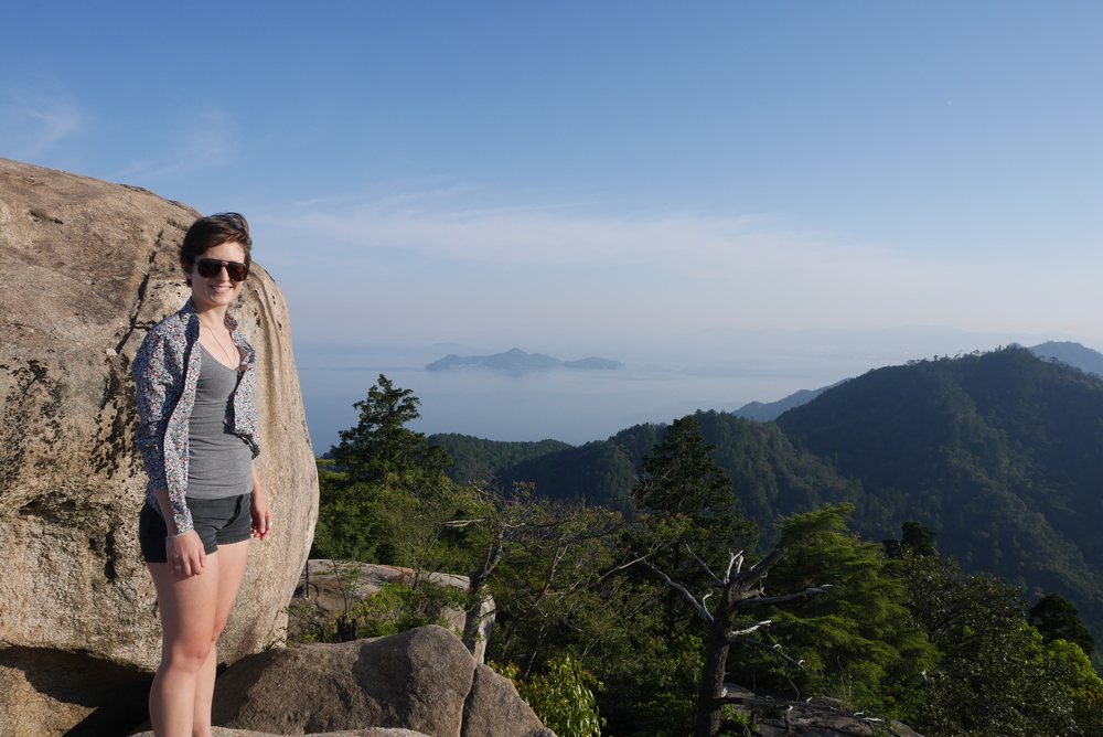 Hiked to the top of Miyajima island in denim shorts and Birkenstocks - no activewear required