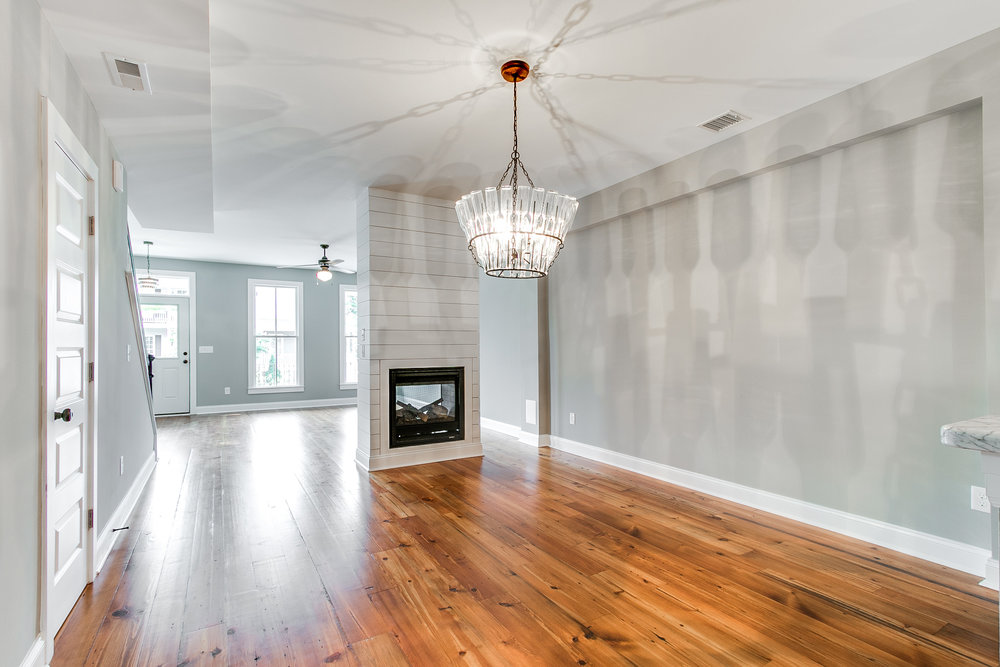 Example of double-sided fireplace from our new construction homes on N 29th Street