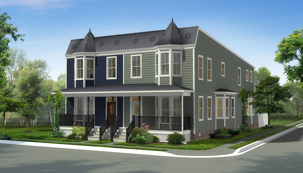 New construction rendering for East Clay Street