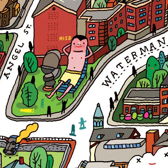 RISD CAMPUS MAP — Aaron Meshon Illustration