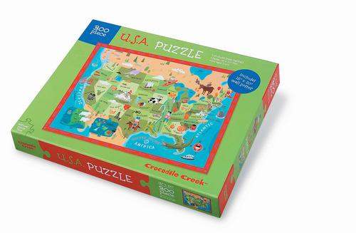 MAPS Aaron Meshon Illustration - Large wood us map puzzle