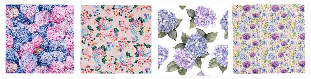 Hydrangea fabric available from Spotlight