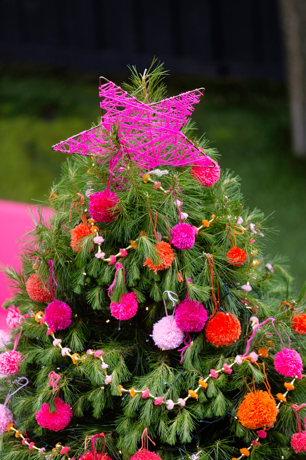 Christmas Tree With Pink Decorations