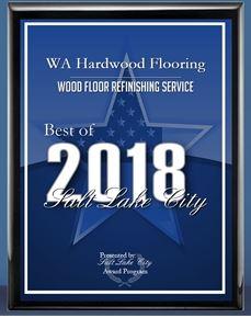 2018 Winner of the Wood Floor Refinishing Services Award by Salt Lake Award Program