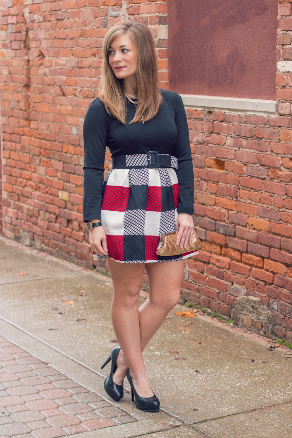 Winter Plaid Dress