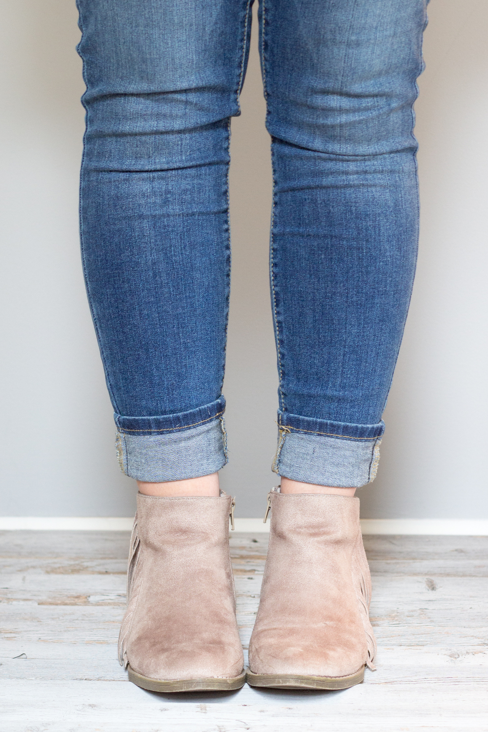 How to Roll Jeans with Boots
