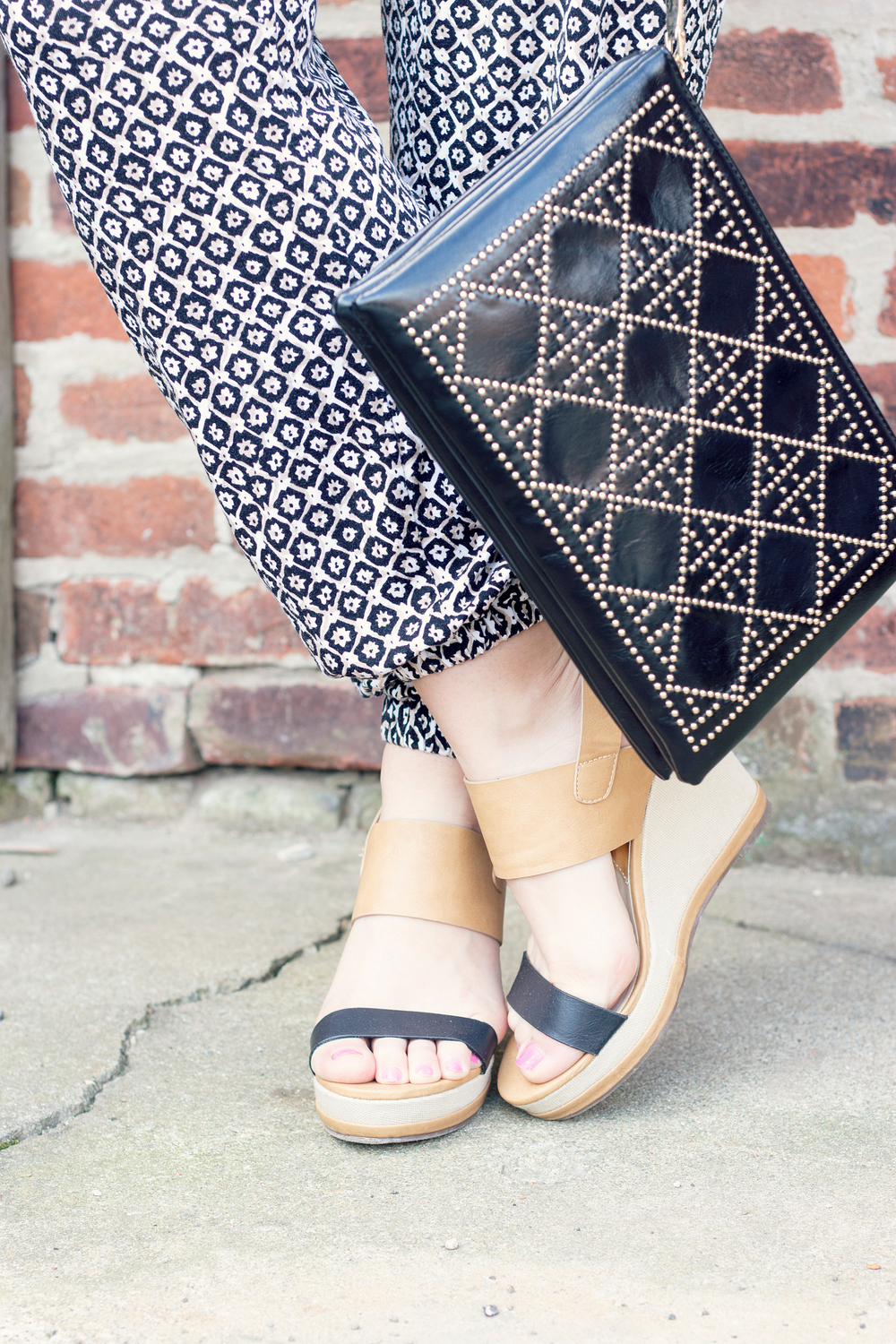 Cute two tone wedges for summer