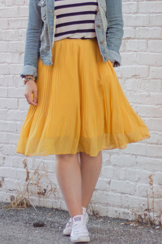 Yellow Pleated Skirt.jpg