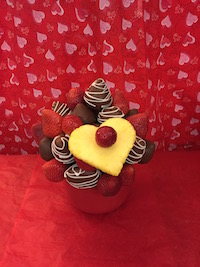 Hugs & Kisses  Need a little sweet treat?  This is the one for you, strawberries plain and milk chocolate with white swirls.  $40/$50/$60   Send Request