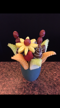 Quick Treat  A light treat of honey dew cantaloupe and strawberries  $35