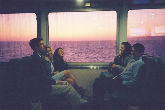 Mildly intoxicated ferry rides and a #pnwsunset #kodakgold200