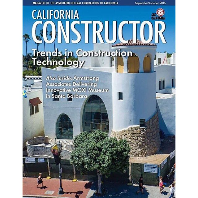 Featured in Associated General Contractors of California magazine this month! Special thanks to Armstrong Associates and @moxisb