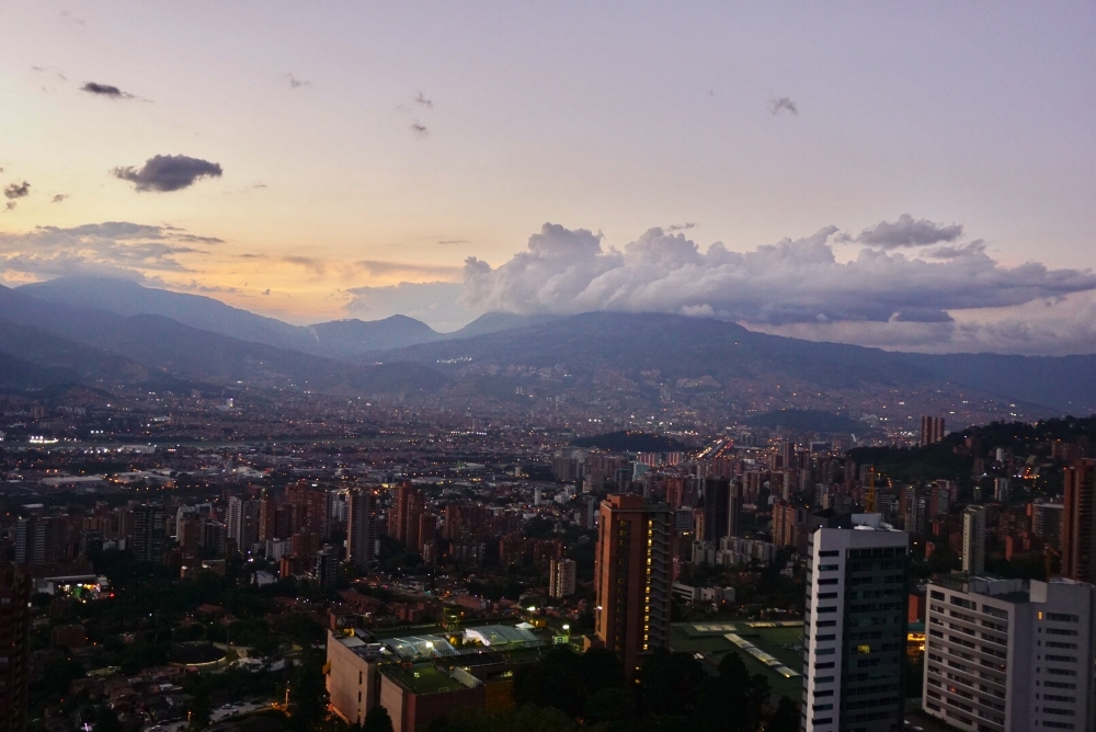 Sunset in Medellín