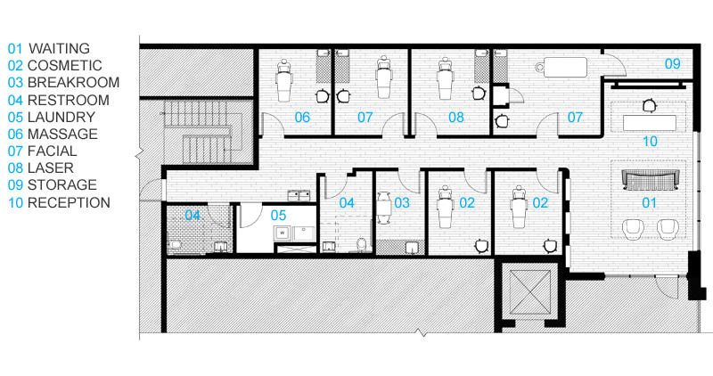 Massage spa floor plans thefloors co for Salon layout plans