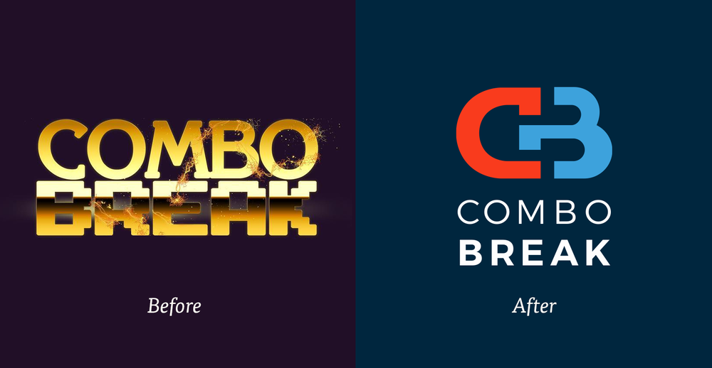 Combo_Break_Identity_and_Web_Design_Logomark_Before_and_After.png