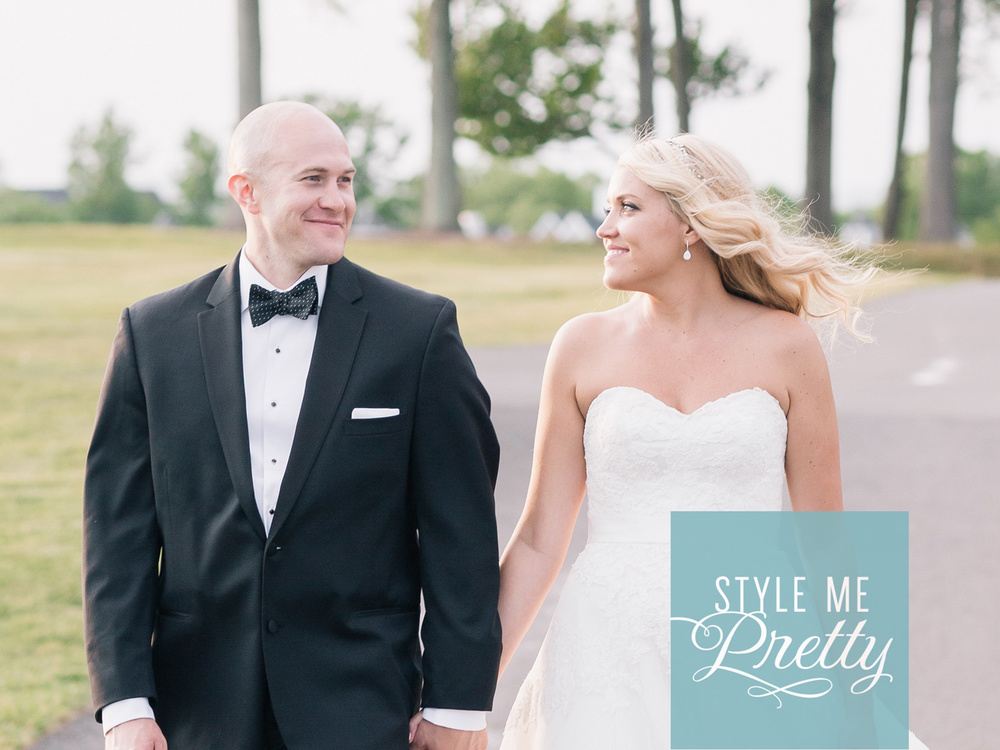 STYLE ME PRETTY: CLASSIC NATIONAL GOLF CLUB WEDDING