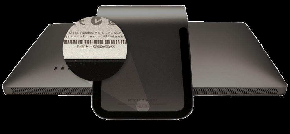 macbook air serial number identifier