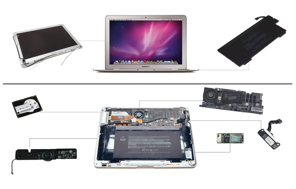 Macbook Air Original, 2008 and 2009 A1237 and A1304