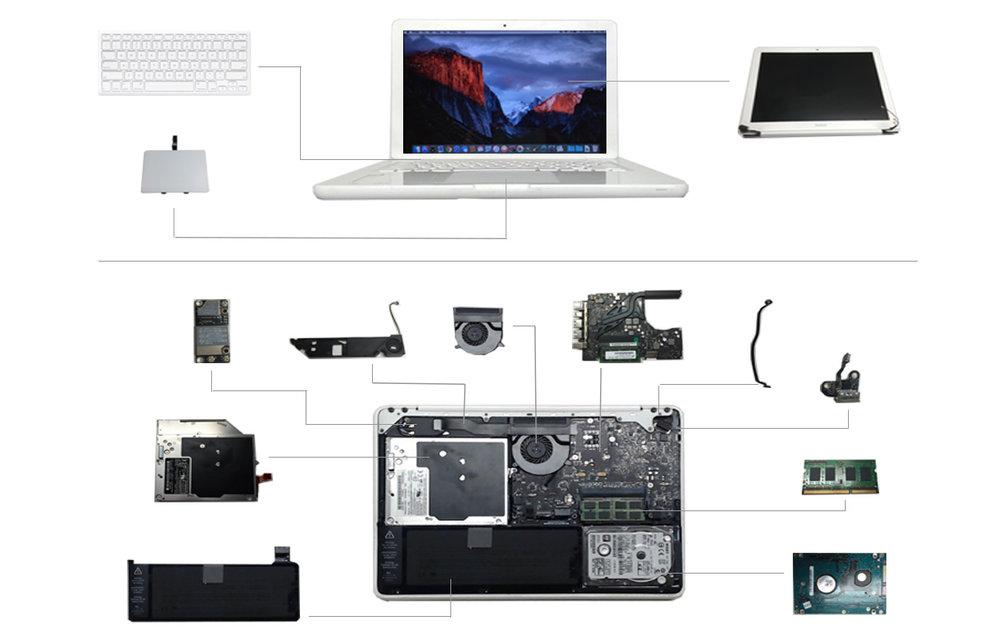 Macbook White 2009 (A1342)
